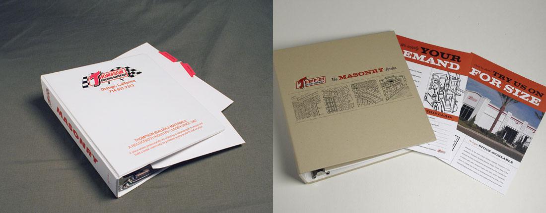 StudioConover - Thompson Building Materials | Thompson Building Materials Binder Before and After
