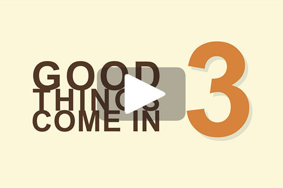 StudioConover - Video | CREATIVE MINES: Good Things Come in 3