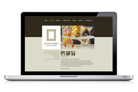 StudioConover - Web Development | Glenn Gobel Custom Framing website