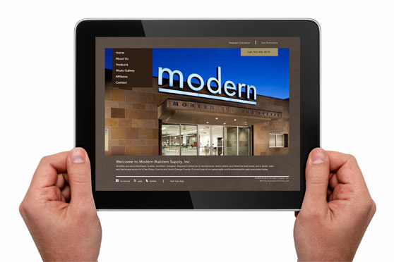 StudioConover - Web Development | Modern Builders Supply website